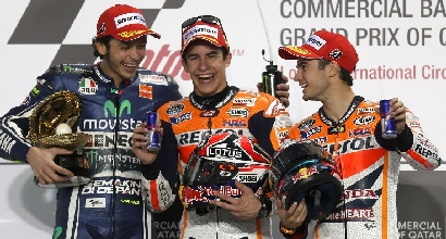 Rossi,Marquez e Pedrosa (AFP)