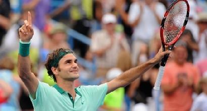 Roger Federer, foto Afp
