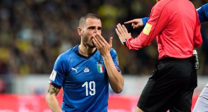 Rabbia Bonucci contro l'arbitro