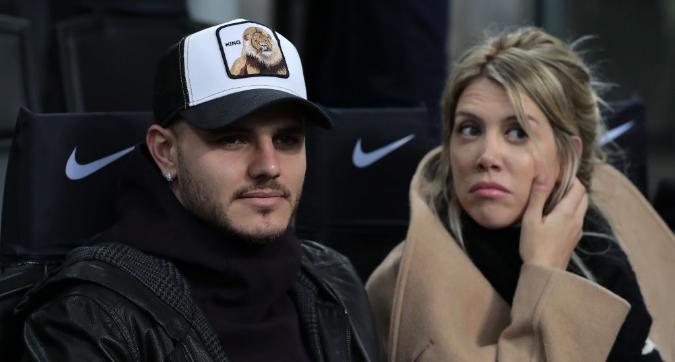 Inter-Samp, Icardi e Wanda in tribuna