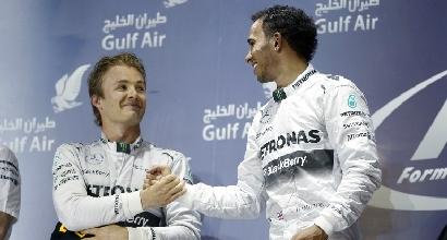 Rosberg e Hamilton (Afp)