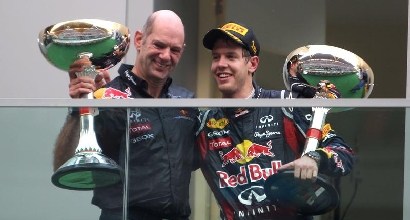 Adrian Newey con Vettel, foto IPP