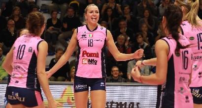 Volley, A1 femminile: sorpresa Scandicci, Novara in testa