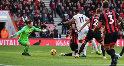 Premier: Tottenham ok col brivido, pari show tra Arsenal e Liverpool, Manchester United sul filo di lana a Bournemouth