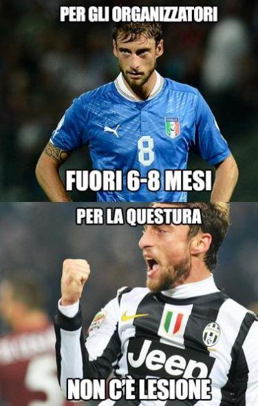Caso Marchisio, sfottò per il dottor Castellacci