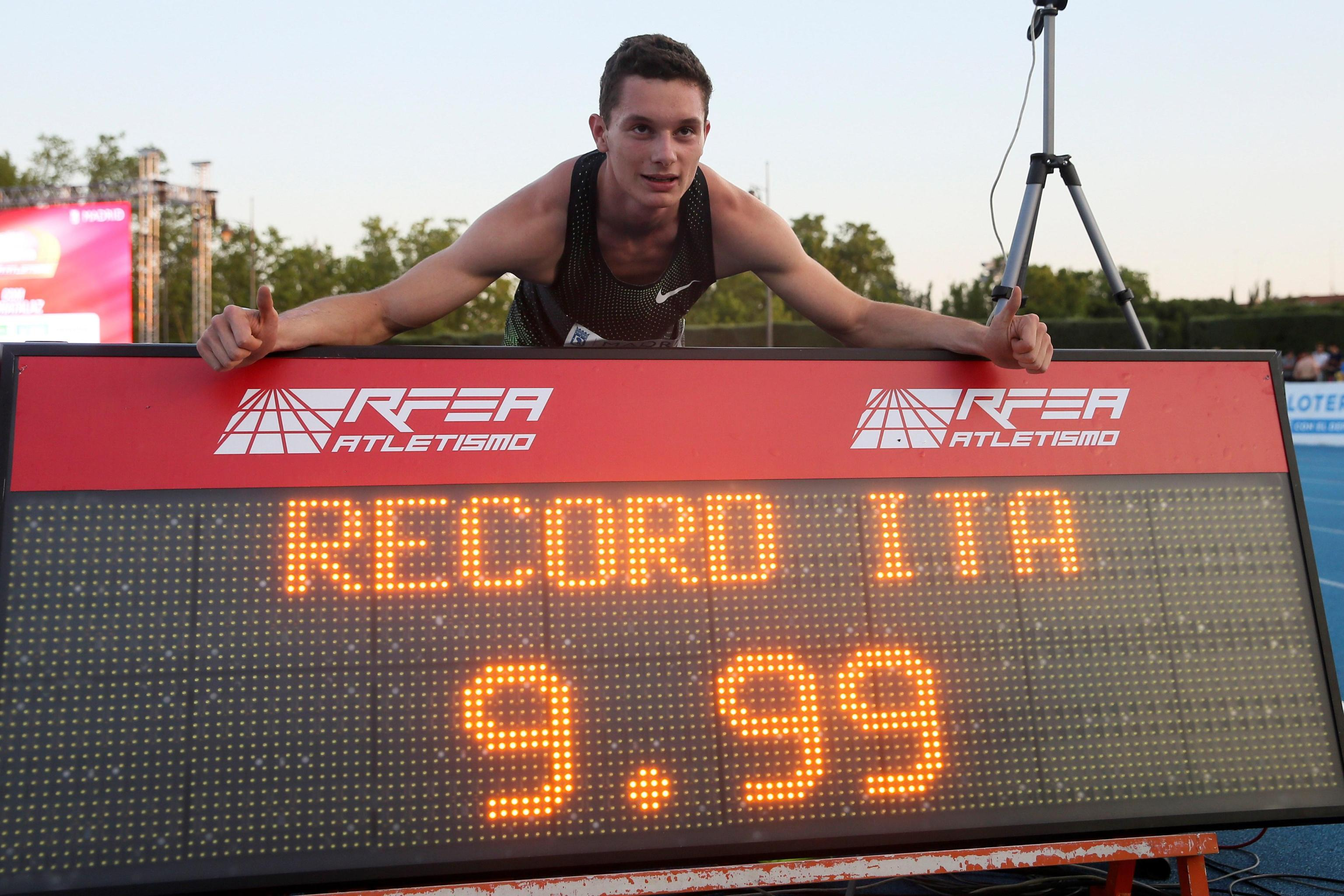 Filippo Tortu corre i 100 metri in 9