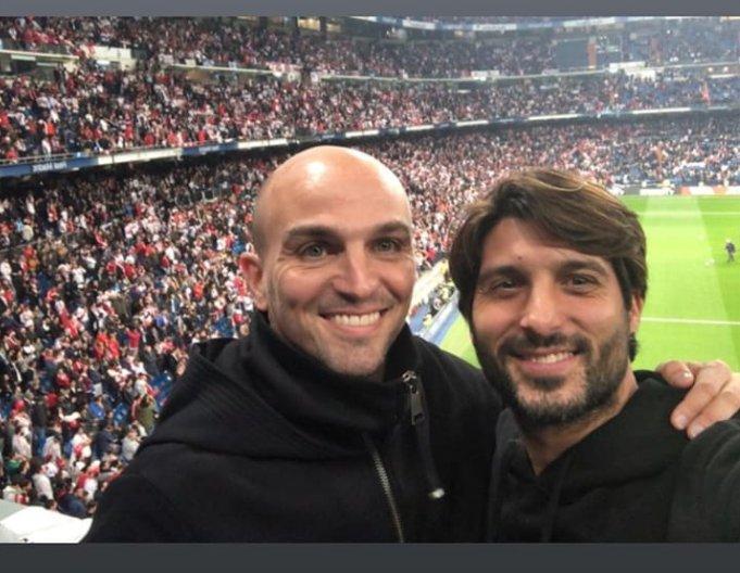 Cambiasso (ex Inter) e Chori Dominguez (Rayo Vallecano)