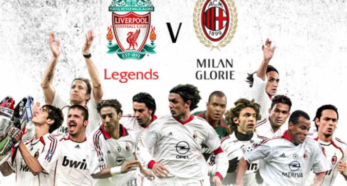 Liverpool Legends-Milan Glorie, la 'bella' Champions