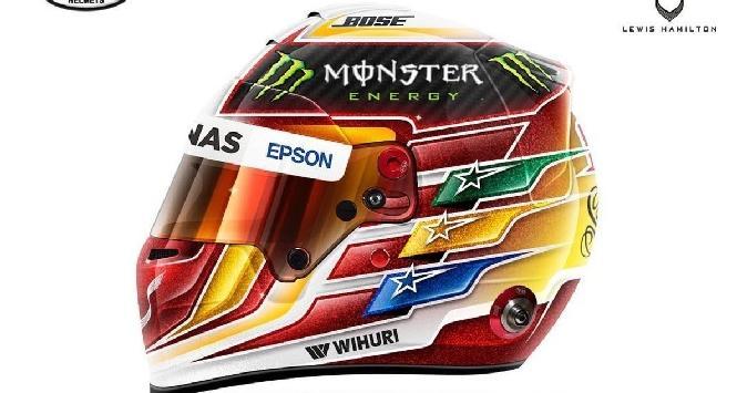 Hamilton, svelato il nuovo casco