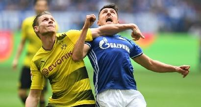 Bundesliga: lo Schalke batte il Dortmund e blinda il secondo posto