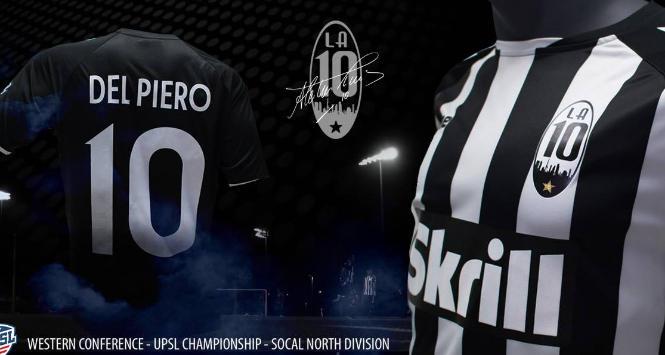 Usa, Del Piero lancia il suo club in California: LA10 FC, giocherà in UPSL