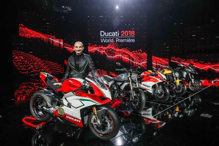 Ducati, festa con i suoi piloti alla presentazione dei modelli 2018
