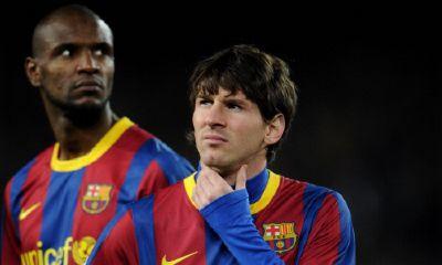 Abidal e il compagno Leo Messi, Getty Images