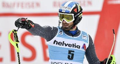 Sci, slalom Adelboden: splendido Moelgg, secondo nella nebbia