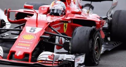 """F1, Pirelli: """"Foratura lenta per Vettel a Silverstone"""""""