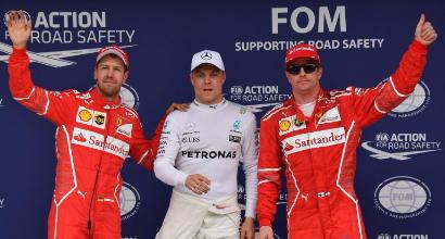 Vettel-Bottas-Raikkonen, AFP
