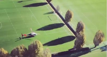 Inter, Icardi atterra sulla Pinetina in elicottero