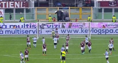 Torino-Inter, una punizione di Candreva colpisce uno steward: milza asportata