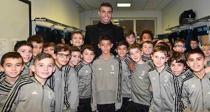 Juve, squadra in visita ai ragazzi del settore giovanile