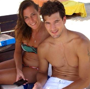 Pennetta con l'ex fidanzato Andrea Preti