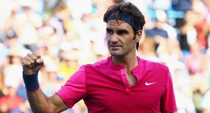 Tennis, splendido trionfo di Federer a Cincinnati