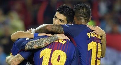 Champions: tris Barcellona, Messi a quota 100 gol in UEFA