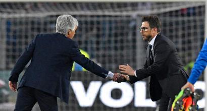 Roma-Atalanta 1-2: Cornelius-De Roon da sogno, DiFra in crisi