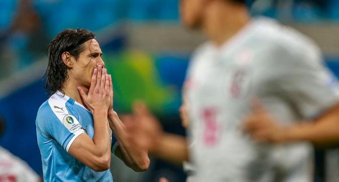 Copa America: il Giappone e i legni frenano l'Uruguay, è 2-2