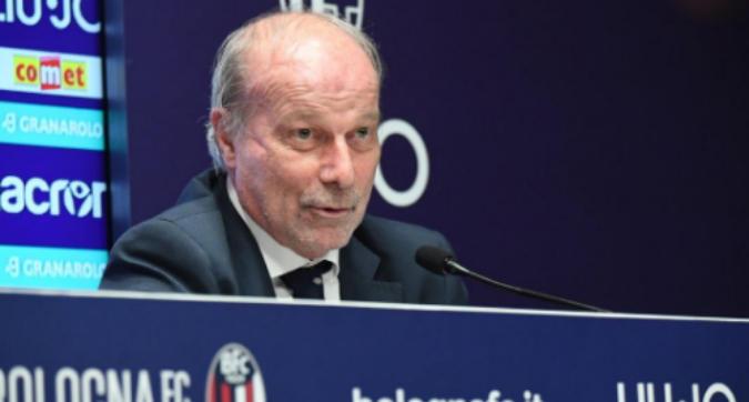 """Sabatini al fianco di Sinisa: """"Resta l'allenatore del Bologna"""""""