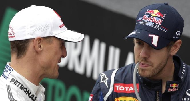 Schumacher e Vettel (LaPresse)