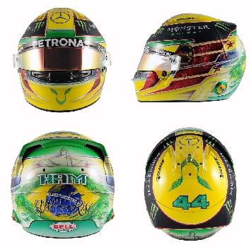 Hamilton, un casco in onore di Senna
