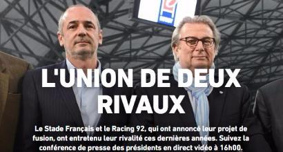 Rugby, Racing 92 e Stade Francais saranno un unico club