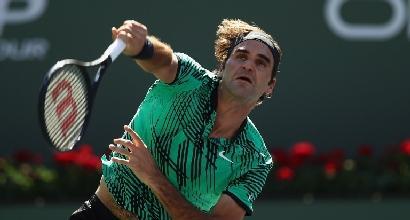 Atp Indian Wells: pokerissimo Federer, Wawrinka si inchina