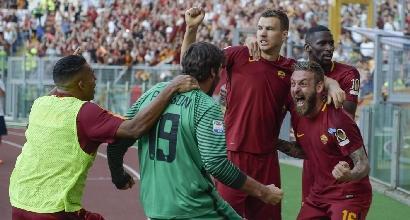 Roma-Genoa 3-2: Perotti-gol 90', salva la festa di Totti