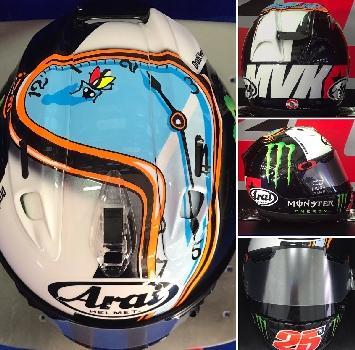 Vinales, il nuovo casco per i test di Sepang