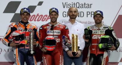 """MotoGP Qatar, Dovizioso: """"Battere Marquez dà sempre gusto"""""""