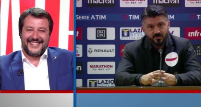 """Milan, Salvini: """"Onore a Gattuso, ci mette l'anima"""""""