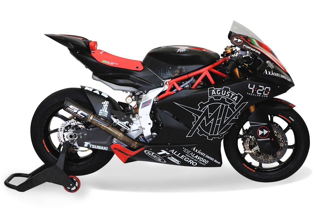 La MV Agusta ha svelato il prototipo di quella che sarà l'arma del suo ritorno nel Motomondiale dopo 42 anni di assenza. La F2 debutterà il prossimo anno nel campionato della Moto2, portata in pista dal team Forward Racing. Come per tutte le altre moto della cateogira, sarà equipaggiata con il nuovo tre cilindri Triumph.