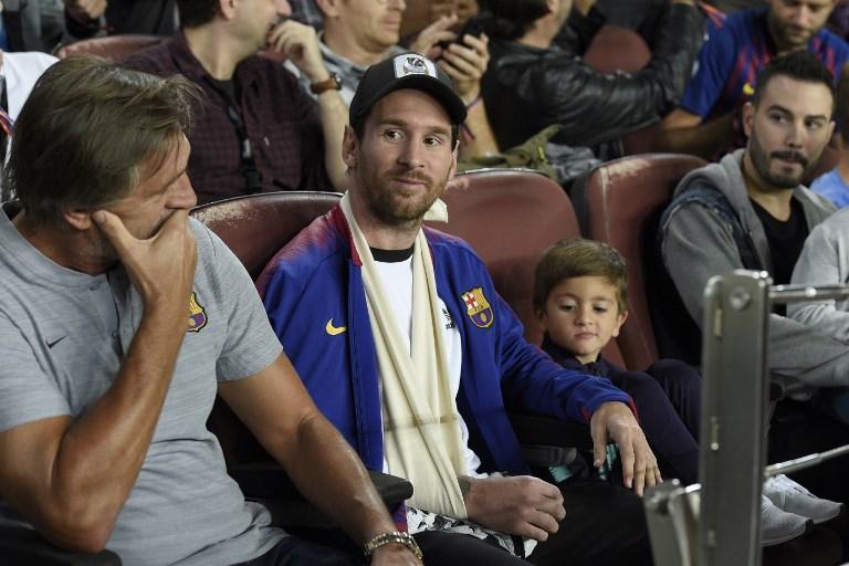 Barcellona-Inter, Messi in tribuna al Camp Nou