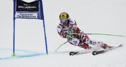 Sci, gigante Garmisch: mostruoso Hirscher, Nani settimo