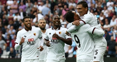 Premier: l'Arsenal vince in rimonta, primo successo per Mazzarri al Watford