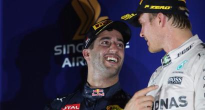 Daniel Ricciardo e Nico Rosberg (LaPresse)