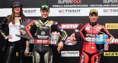 Superbike show a Imola, Rea e Davies vanno a braccetto: stesso tempo!