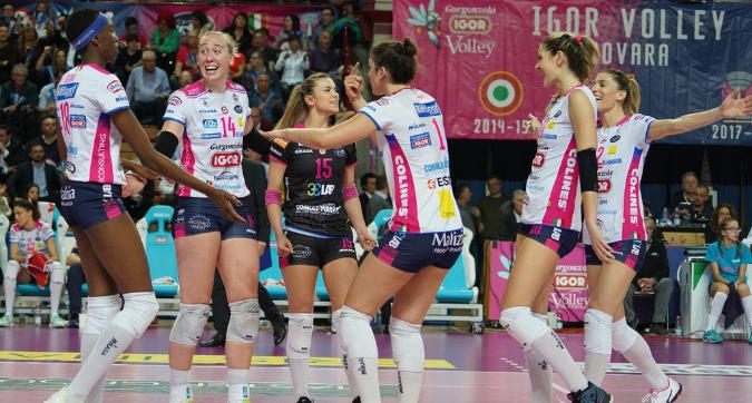 Volley, playoff: Novara batte 3-1 Scandicci e pareggia la serie