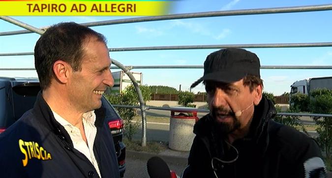 Lite con Adani: Allegri si becca un Tapiro