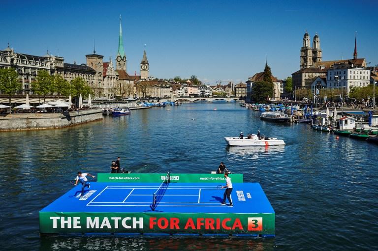 Federer-Murray, allenamento sull'acqua