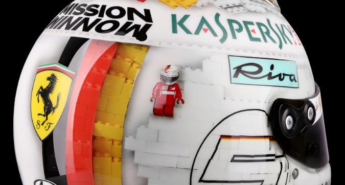 Vettel, il casco di LEGO è uno...spoiler!