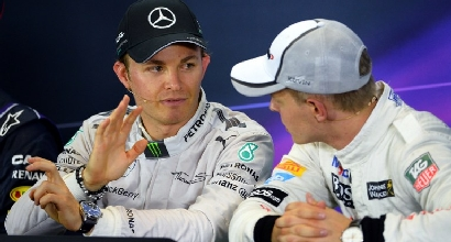 Rosberg e Magnussen (Afp)