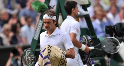 Federer e Djokovic, Afp