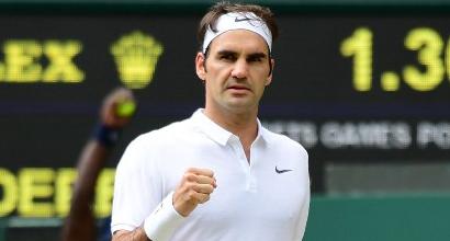 Wimbledon: Federer express, ai quarti per la 14esima volta